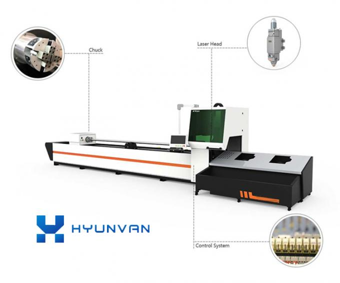 Open Type CNC Laser Cutting Engraving Machine For Stainless Steel Aluminum Pipes