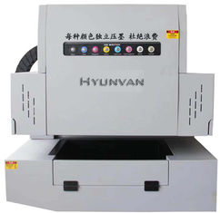 High Precision UV Flatbed Printing Machine CMYKW Digital For Bill Card