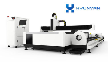 China Plates / Pipes Metal Fiber Laser Cutter 380V 50Hz With Exchange Table supplier